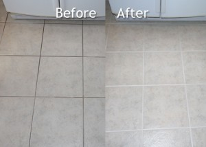 Before & After Tile & Grout Cleaning - Noblesville